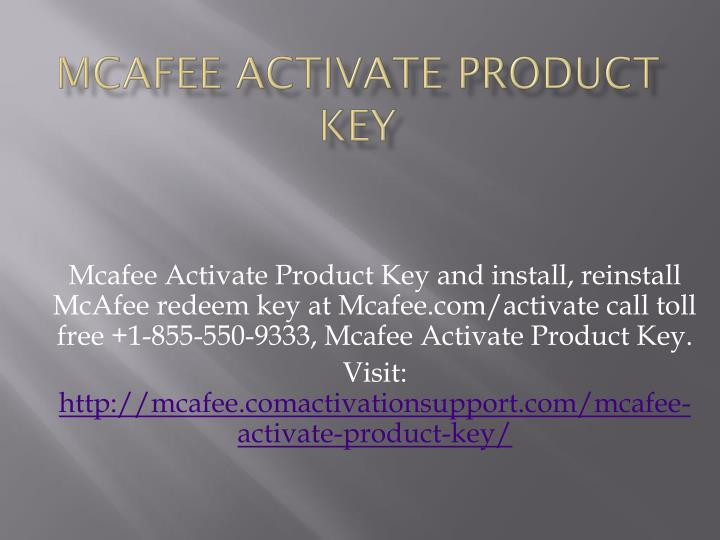 mcafee activate product key n.