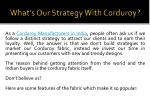 what s our strategy with corduroy