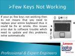 few keys not working