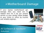 motherboard damage