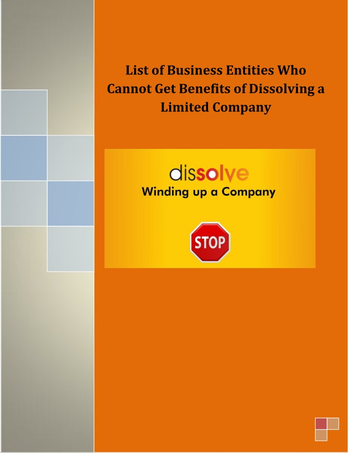 list of business entities who cannot get benefits n.