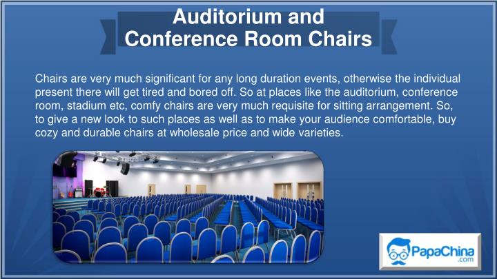auditorium and conference room chairs n.