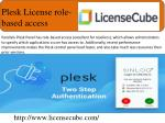 plesk license role based access