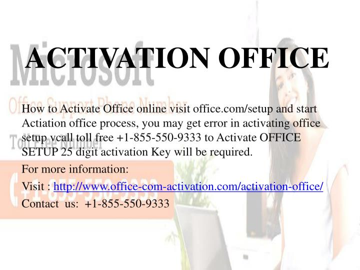 activation office n.
