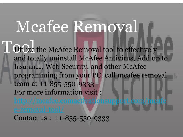 mcafee removal tool n.