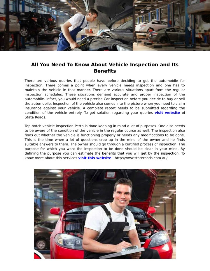 all you need to know about vehicle inspection n.