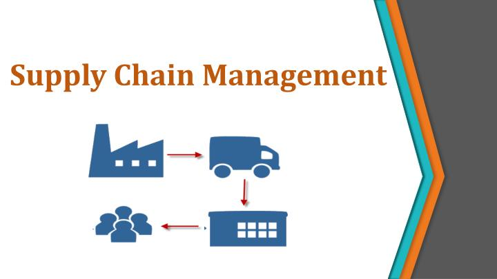 supply chain management n.