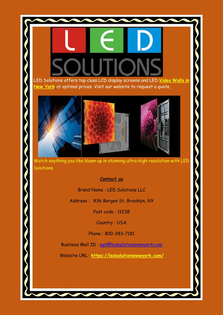 led solutions offers top class lcd display n.