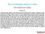 best cardiologist expert in india 1