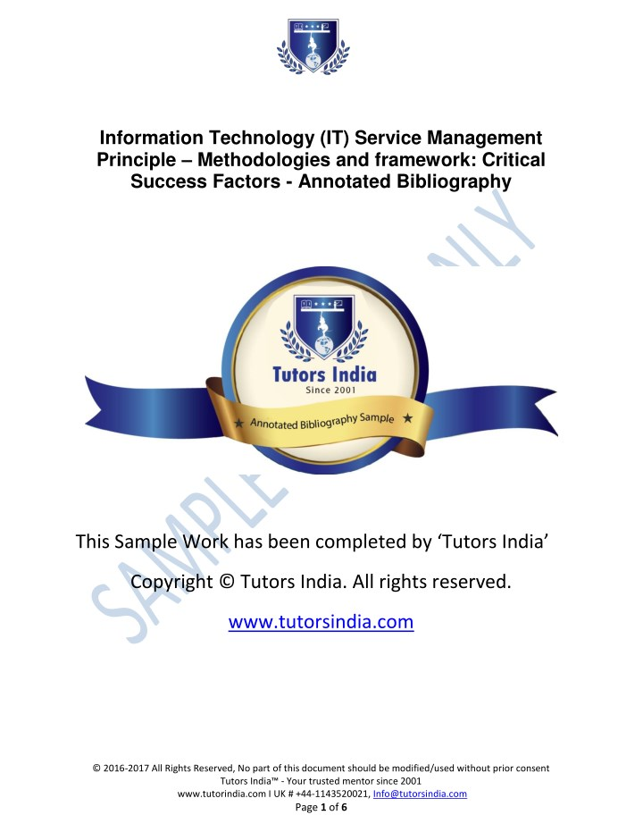 information technology it service management n.