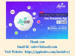 thank you email id sales@hitasoft com visit website https appkodes com instalive