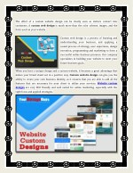 the effect of a custom website design