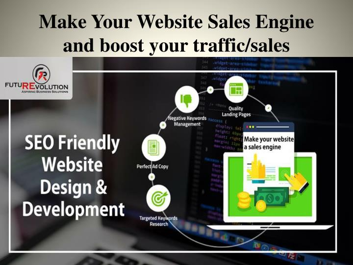 make your website sales engine and boost your traffic sales n.