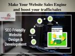 make your website sales engine and boost your traffic sales