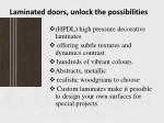 laminated doors unlock the possibilities