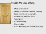 veneer molded doors