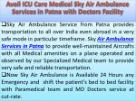 avail ic u care medical sky air ambulance