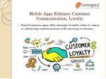 mobile apps enhance customer communication loyalty