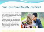 true love come back by love spell