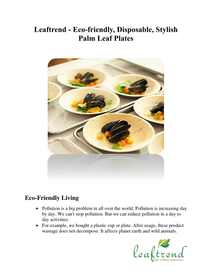 leaftrend eco friendly disposable stylish palm n.
