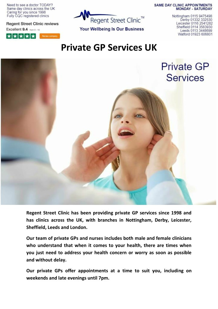 private gp services uk n.