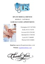 rivate medical services