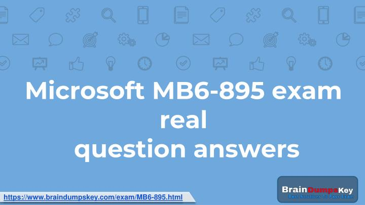 microsoft mb6 895 exam real question answers n.