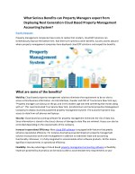 what serious benefits can property managers