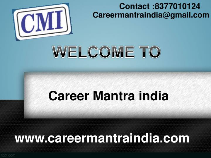 career mantra india n.