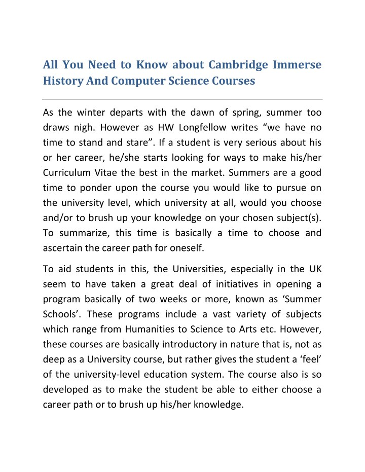 all you need to know about cambridge immerse n.