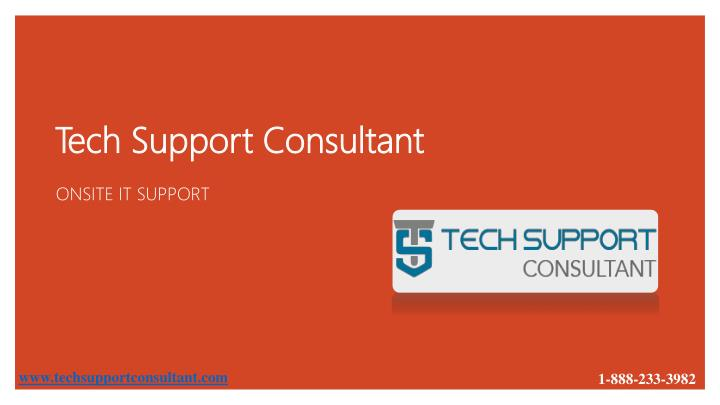 tech support consultant n.