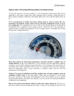 capture index the cooling efficiency metric