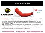 defeet armskins red