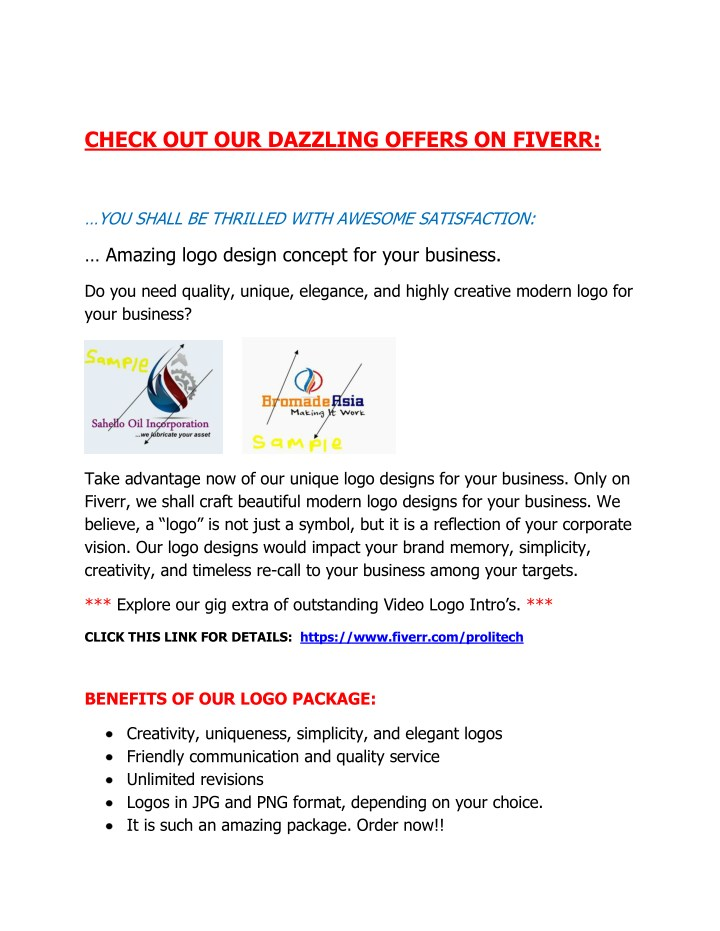 check out our dazzling offers on fiverr n.