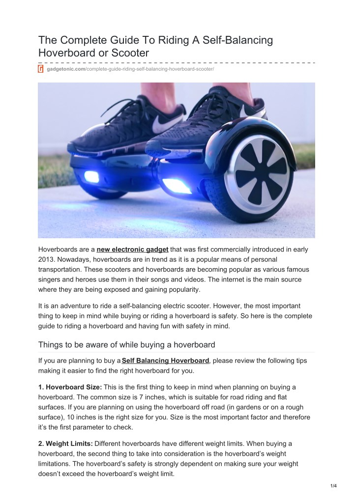 the complete guide to riding a self balancing n.