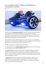 the complete guide to riding a self balancing