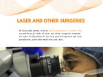 laser and other surgeries