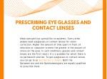 prescribing eye glasses and contact lenses