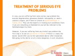 treatment of serious eye problems