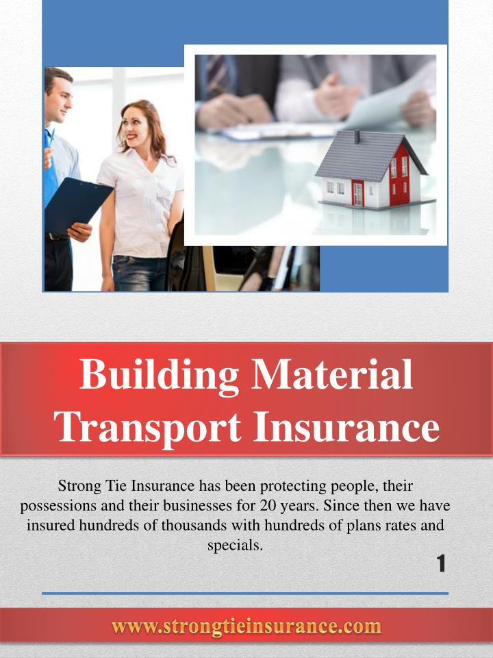 building material transport insurance n.