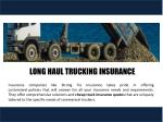 long haul trucking insurance 1