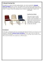 u shaped seating plan