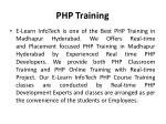 php training 2
