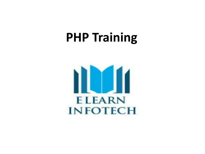 php training n.