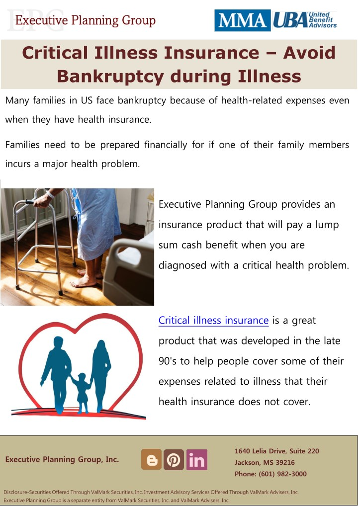 critical illness insurance avoid bankruptcy n.