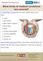 what kinds of medical conditions are covered