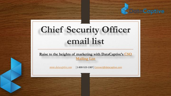 chief security officer email list n.