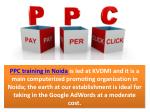 ppc training in noida is led at kvdmi