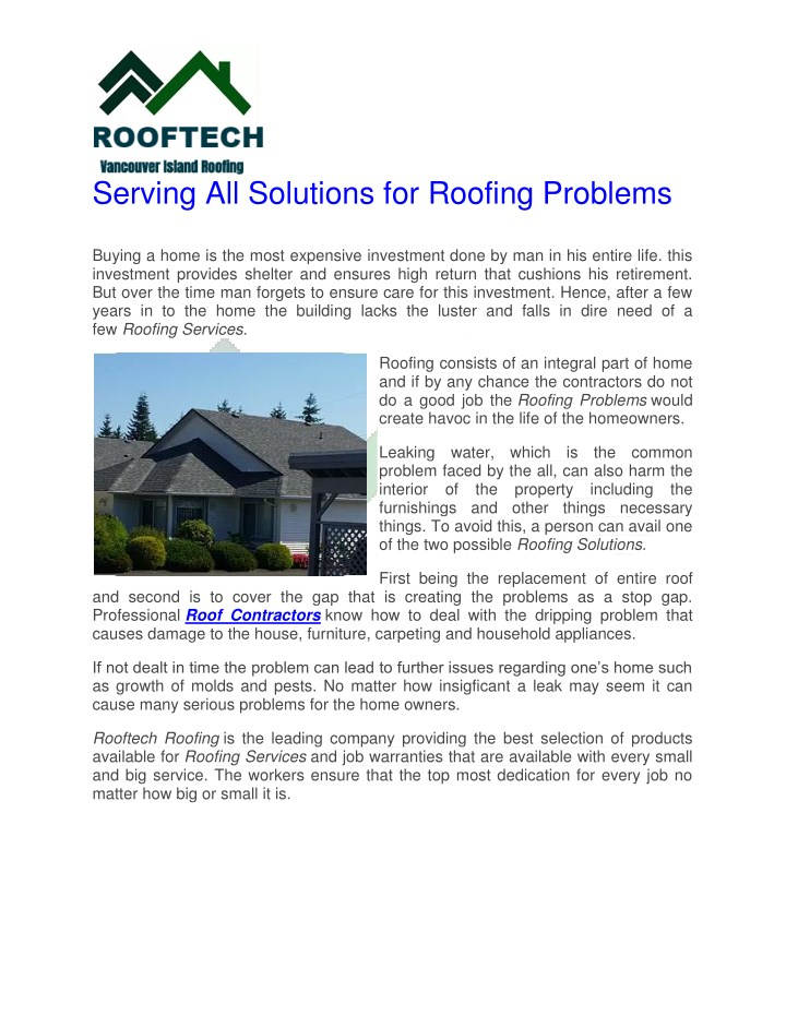serving all solutions for roofing problems buying n.