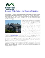 serving all solutions for roofing problems buying